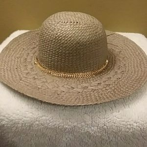 BCBGeneration Taupe Straw Hat